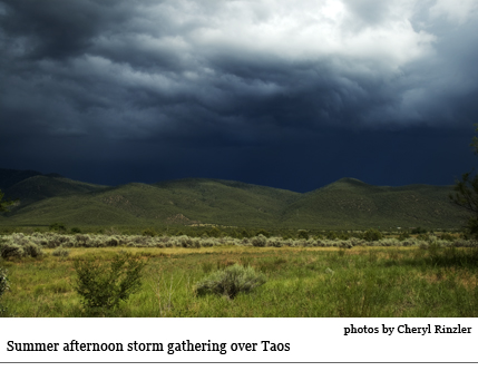 Taos storm photo by Cheryl Rinzler